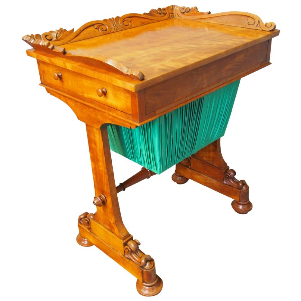 victorian satinwood work table