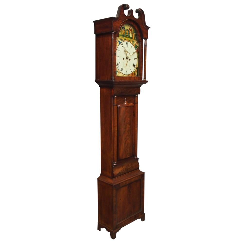 scottish mahogany longcase clock by john hood fife