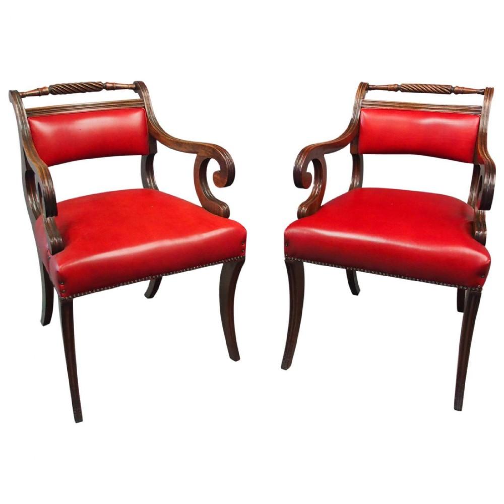 pair of scottish regency armchairs