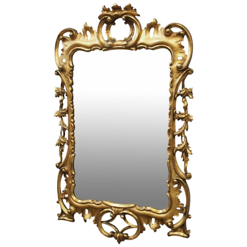 george iii style carved giltwood mirror