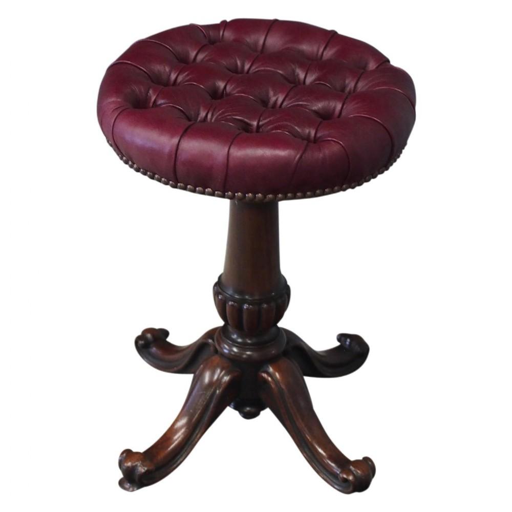 william iv mahogany piano stool