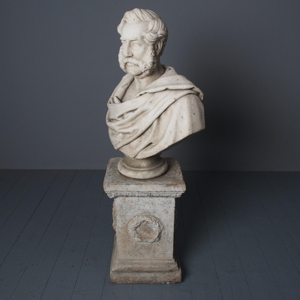 antique white marble bust by john steell rsa