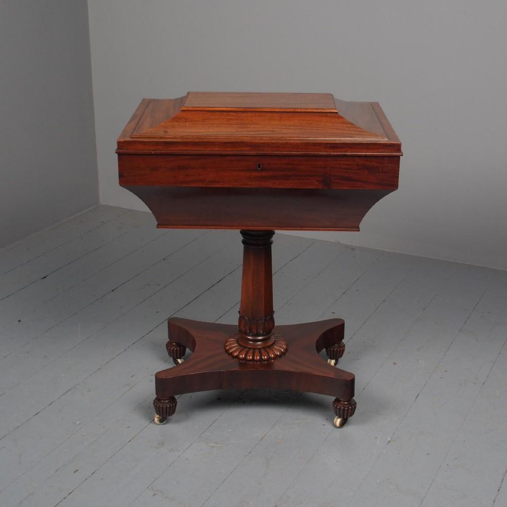 antique william iv large work box
