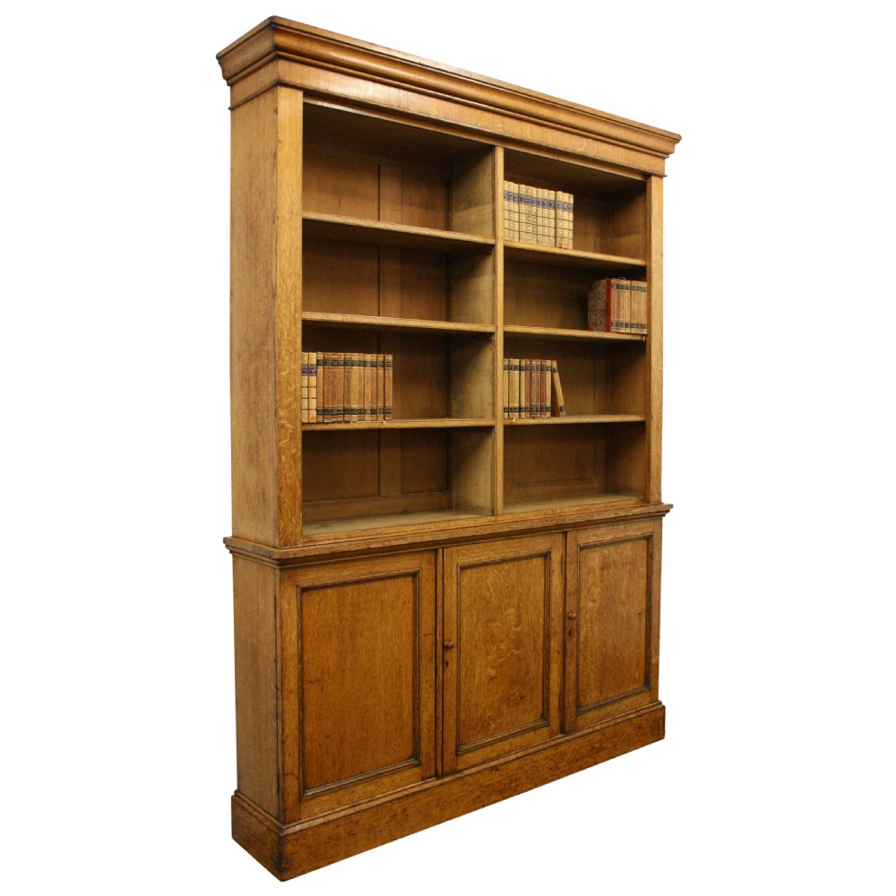 Victorian Oak Open Bookcase | 356103 | Sellingantiques.co.uk