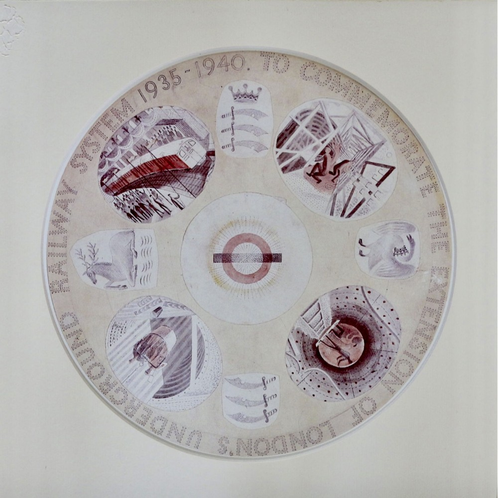 fine print circular print commemorate the extension of london's underground railway system by eric ravilious