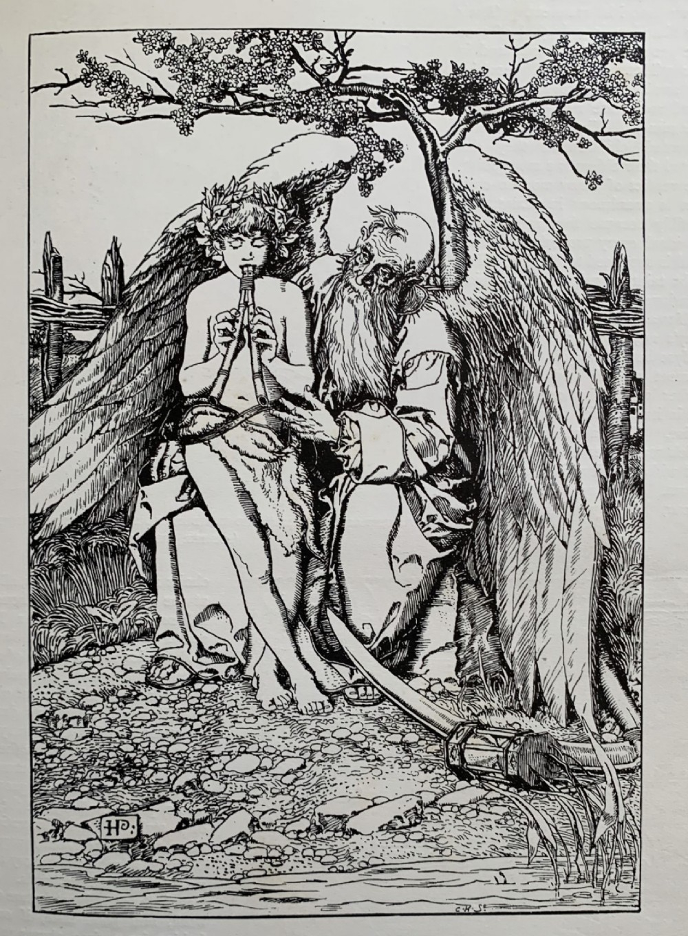 illustration from the wonder clock by howard pyle an original woodcut print c1895