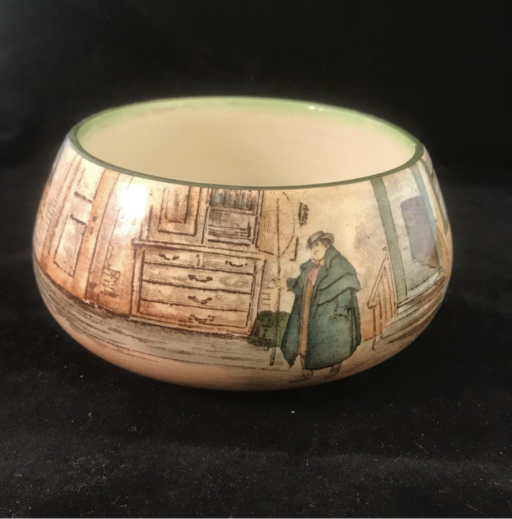 royal doulton dickensware inverted rim bowl c1925 featuring he artful dodger fagin tony weller