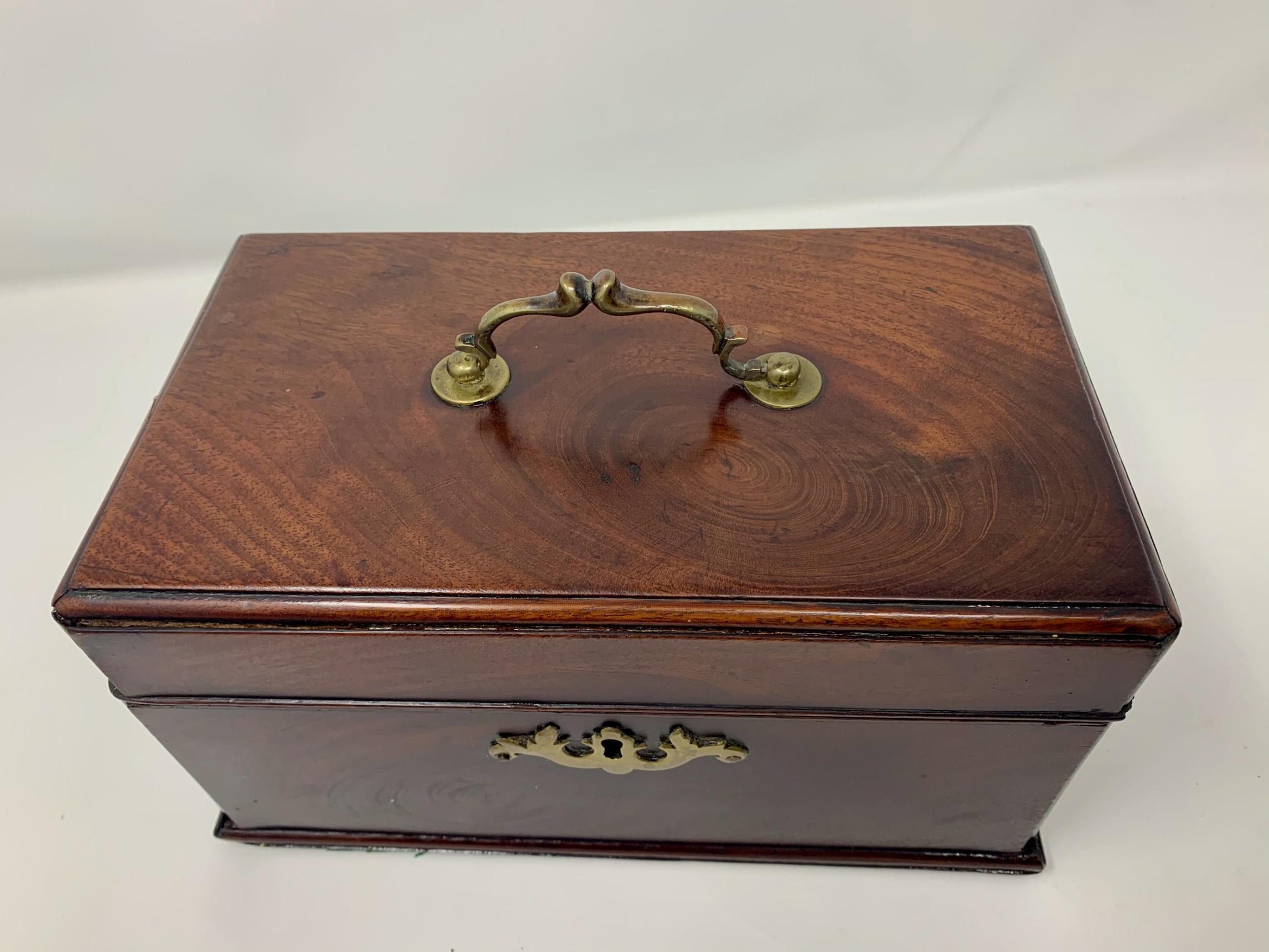edwardian walnut tea chest