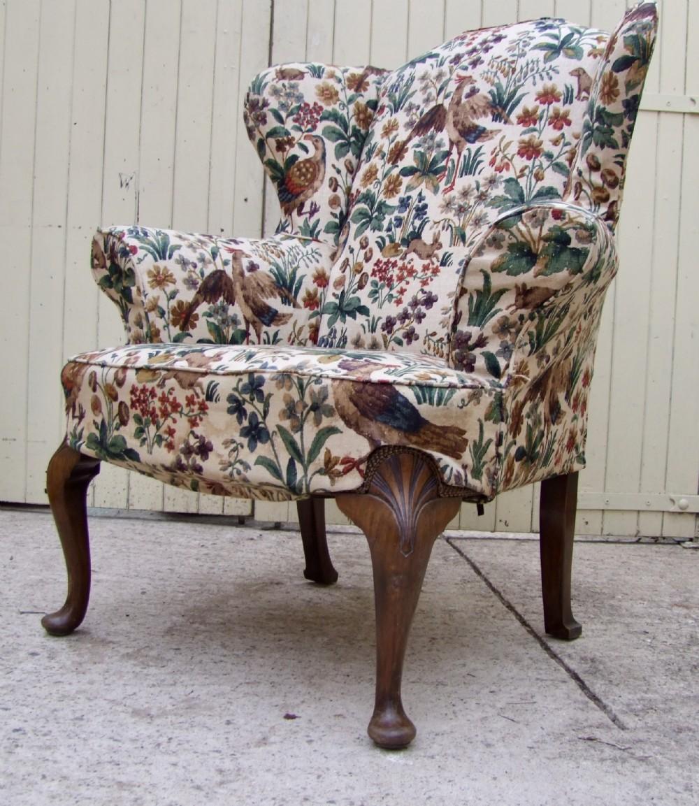 wing armchair circa 1920