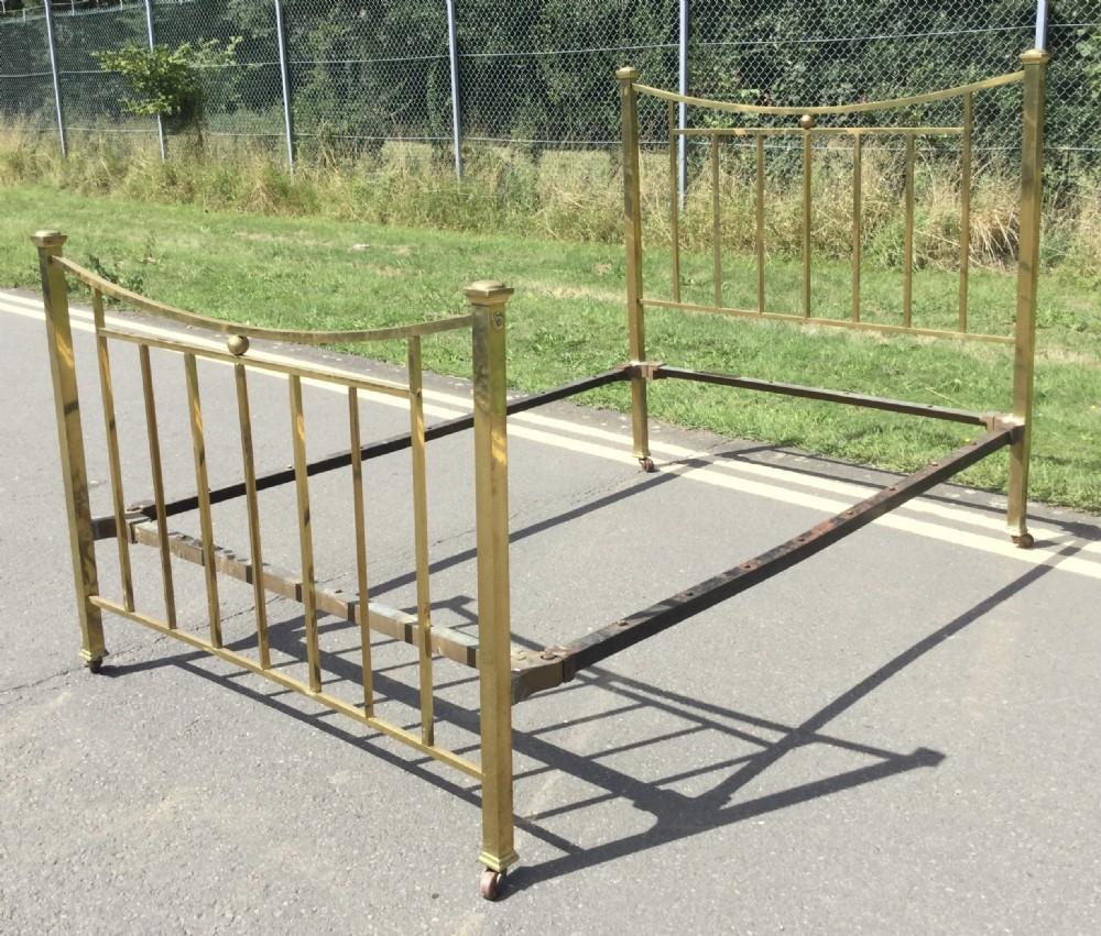 edwardian double brass bed