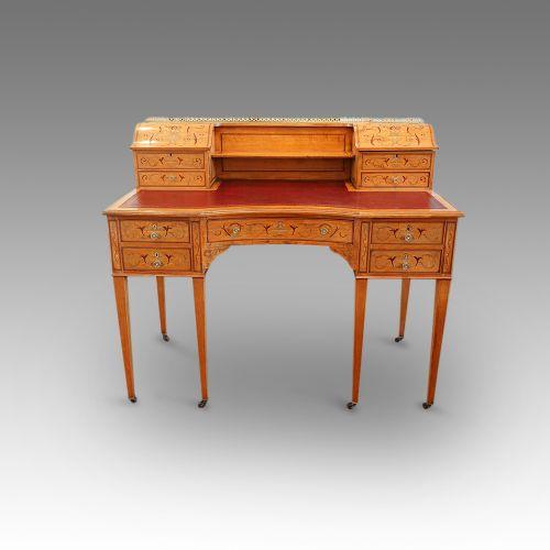 edwardian inlaid satinwood desk