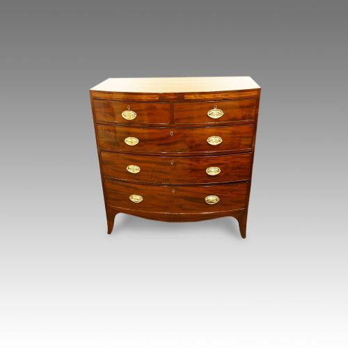 georgian mahogany bowfront chest