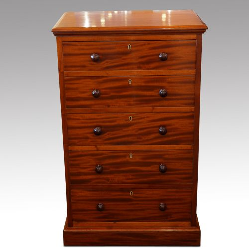 victorian heal co mahogany chest of drawers