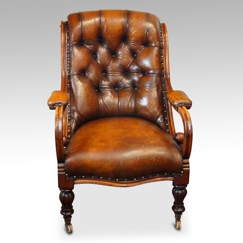 Dated 19th Century - Antique Leather Chairs - The UK's Largest Antiques Website