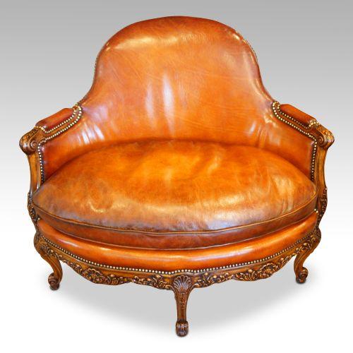edwardian walnut love seat