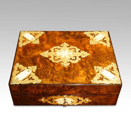 victorian walnut box