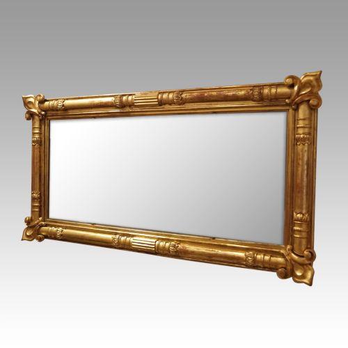 antique 19thc gilt 3 plate mirror