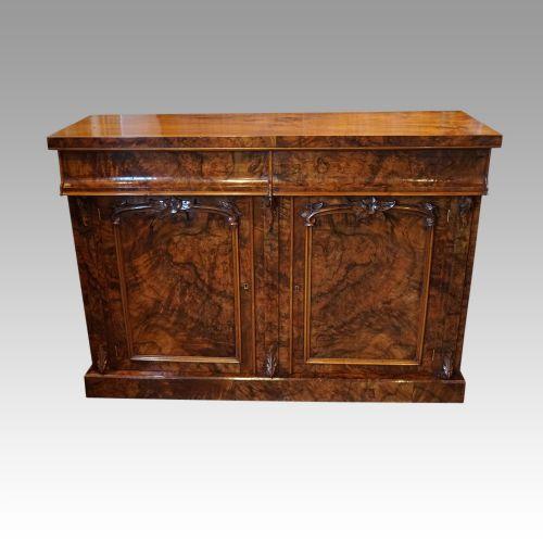 victorian burr walnut chiffonier sideboard