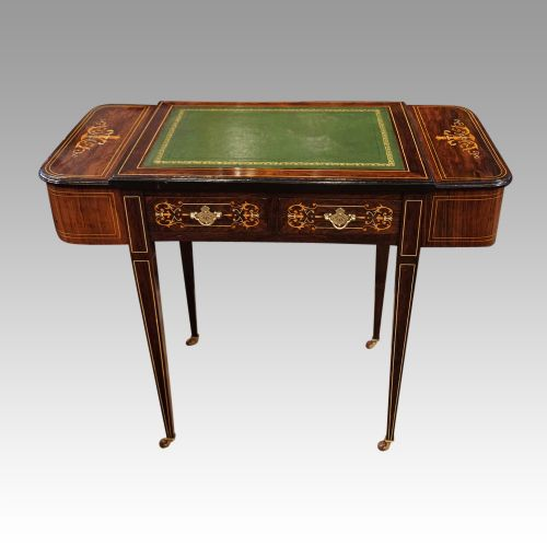 victorian inlaid writing table