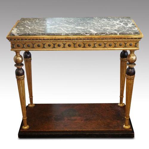 19thc swedish gilt console table