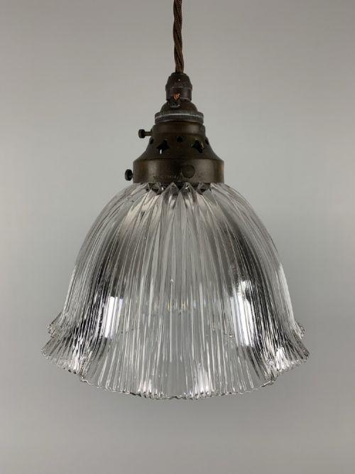 holophane pendant ceiling light original shade rewired