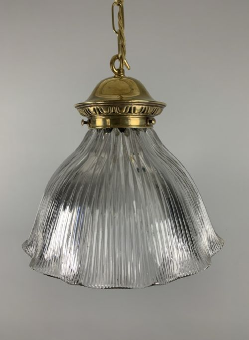 large holophane pendant ceiling light original shade rewired