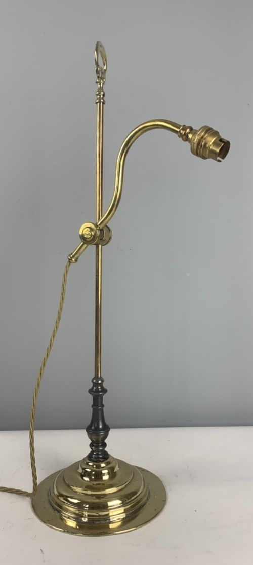 french 1920s rise and fall adjustable desk table lamp rewired and pat tested