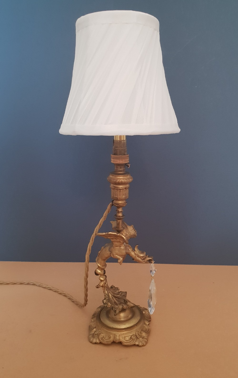 Small dragon table lamp rewired and pat tested 556299