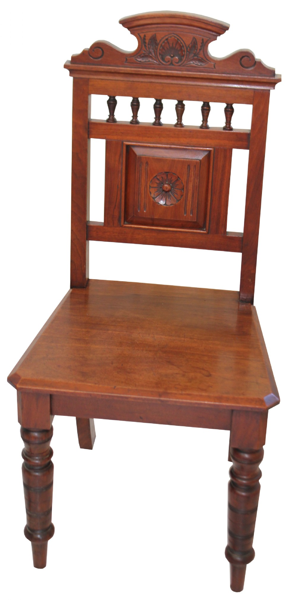 a mahogany carved hall chair