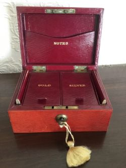 cws pelaw antique. Simple Antique Rare Victorian Morocco Leather Money Casket For Cws Pelaw Antique