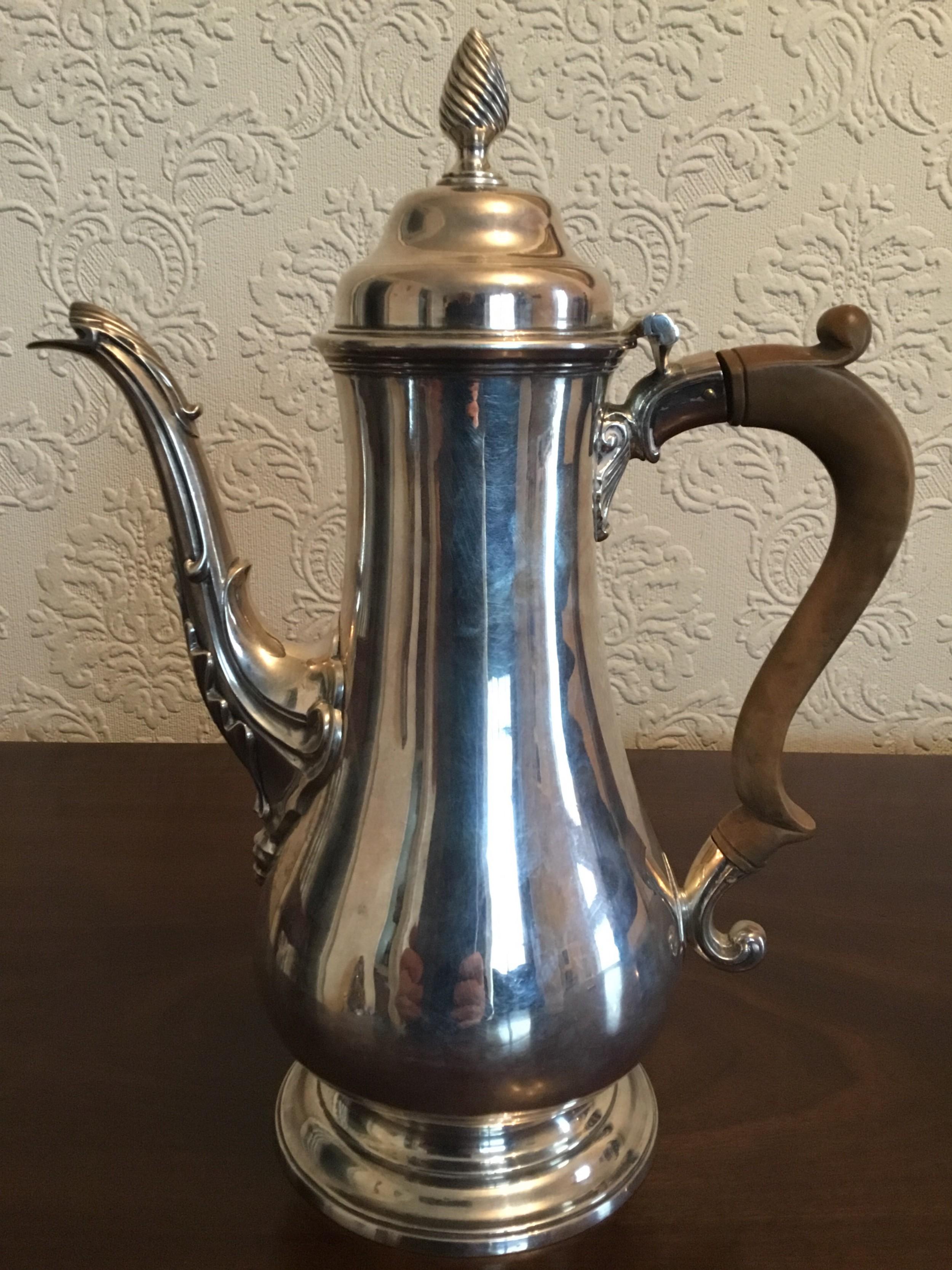georgian silver coffee pot by william tuite