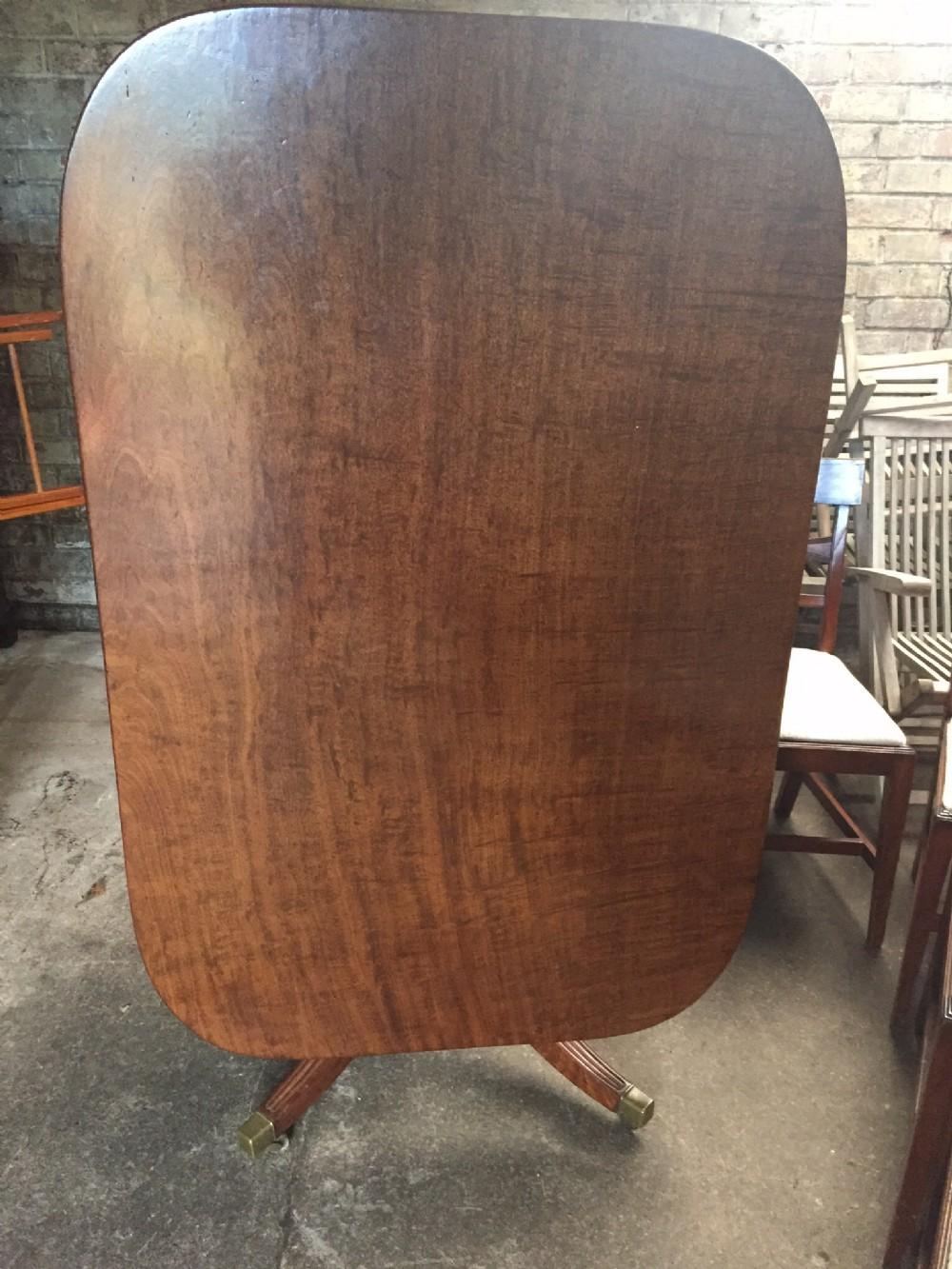 figured mahogany georgian dining room table