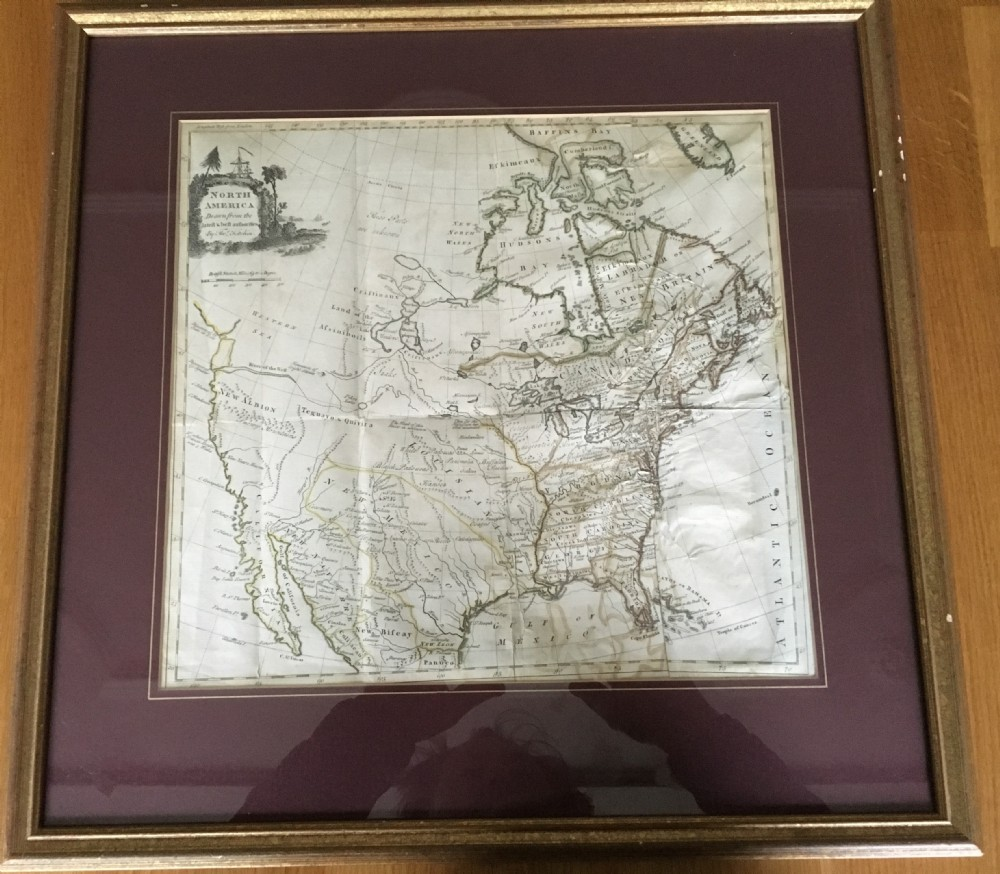 map of north america c1780 by thos kitchin