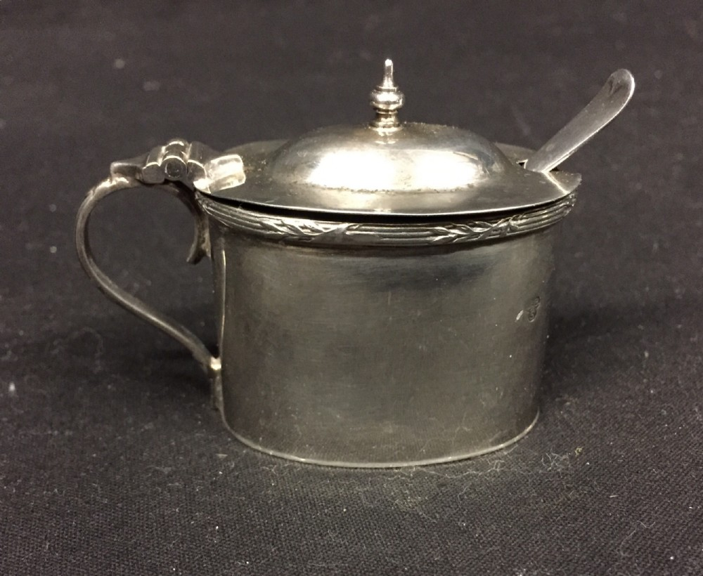 hm georgian silver mustard
