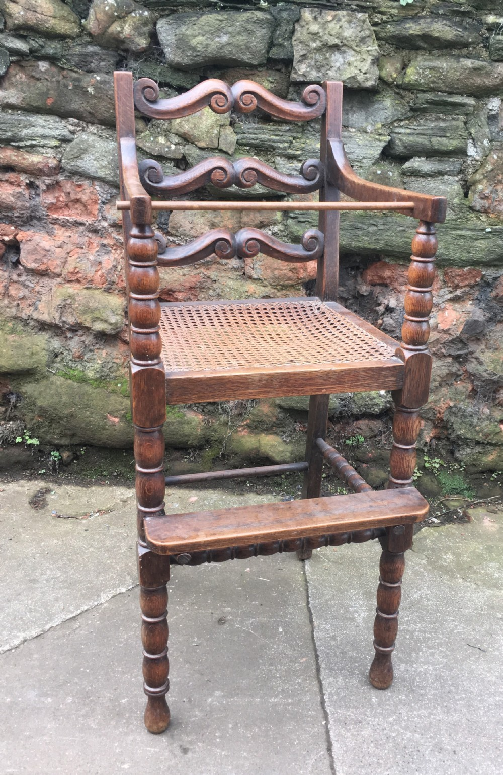 c19thoak childs chair