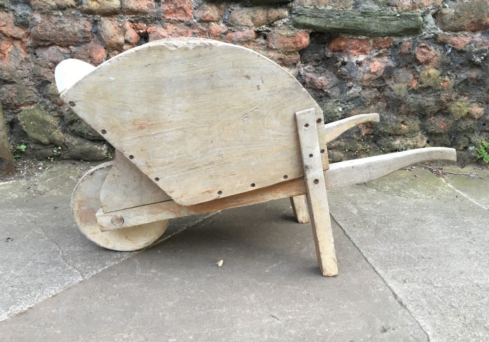 c19th elm childs wheel barrow