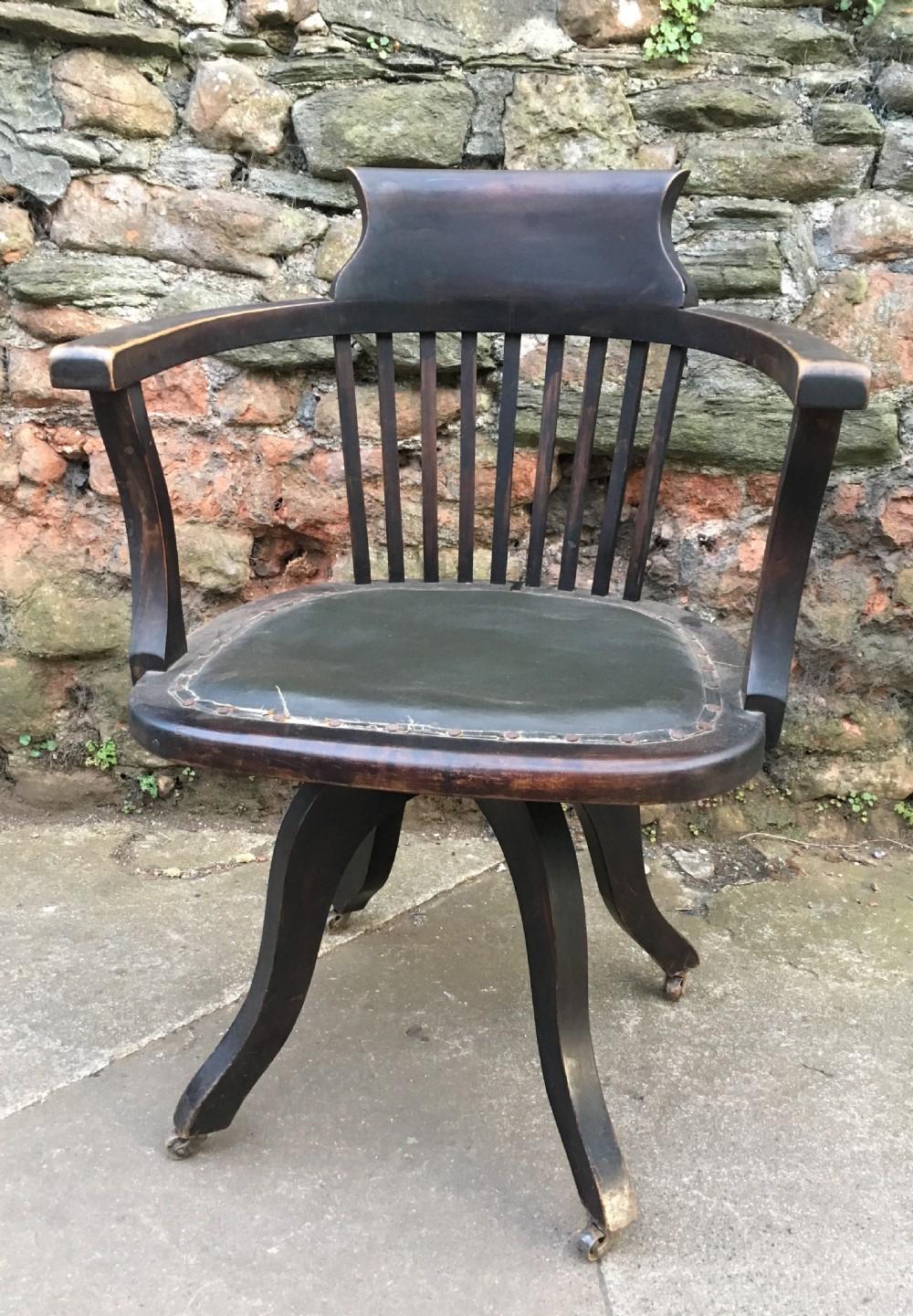 an edwardian swivel office chair
