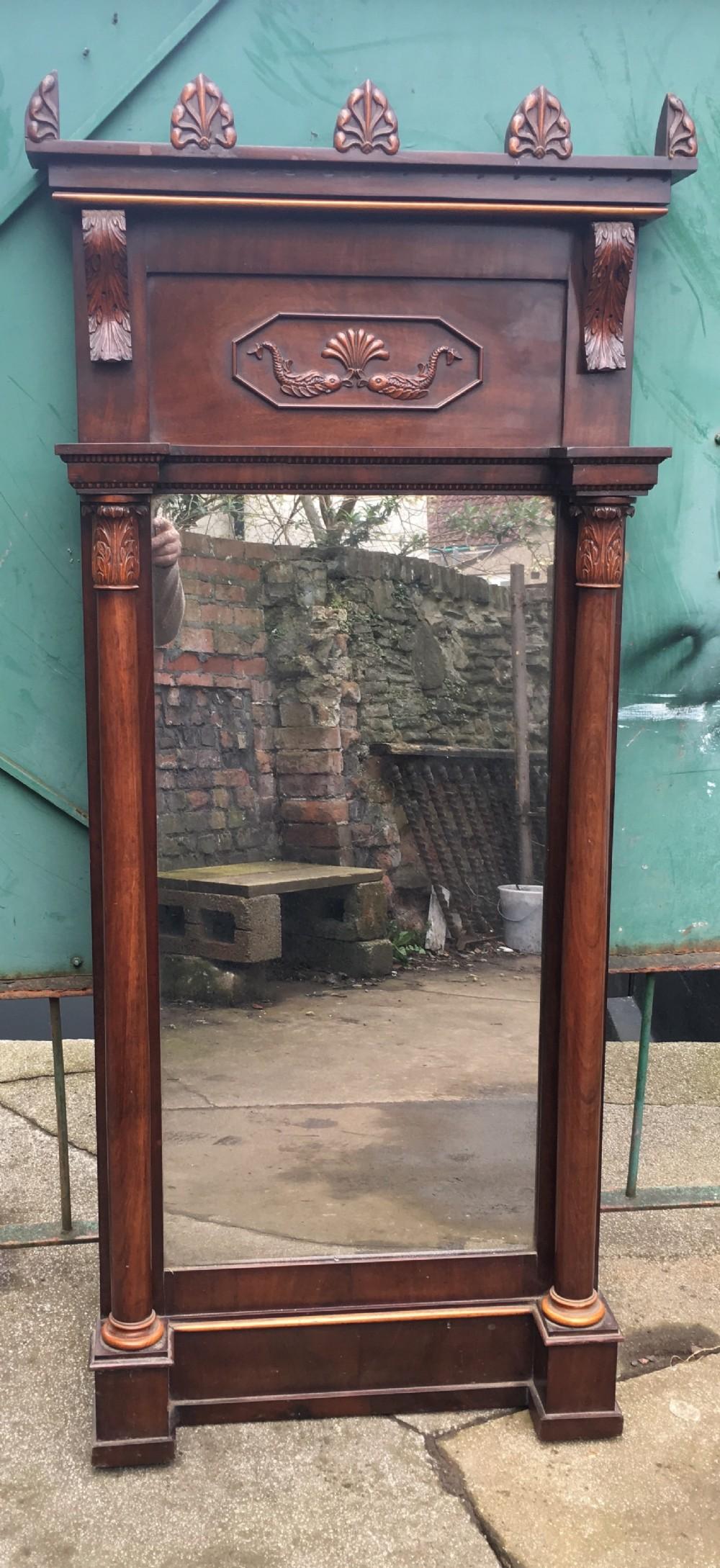 c19th beidermier pier mirror