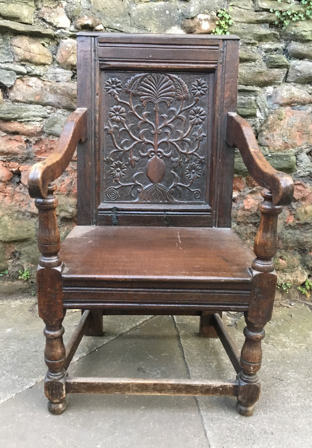 c17th and later wainscot armchair