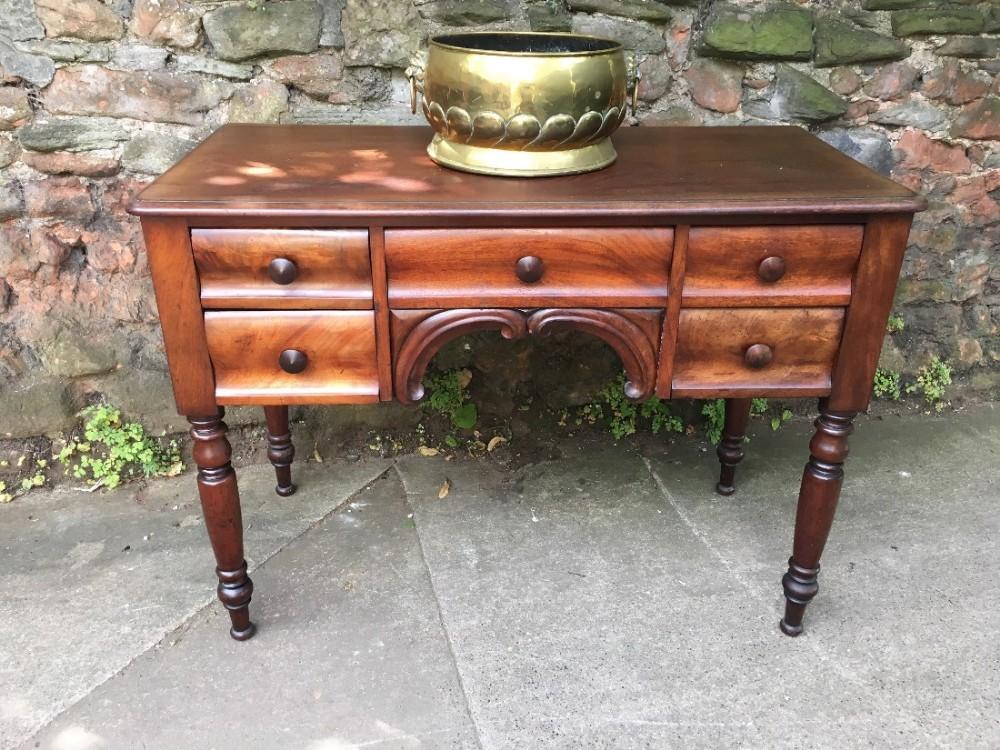 c19th mahogany hall table