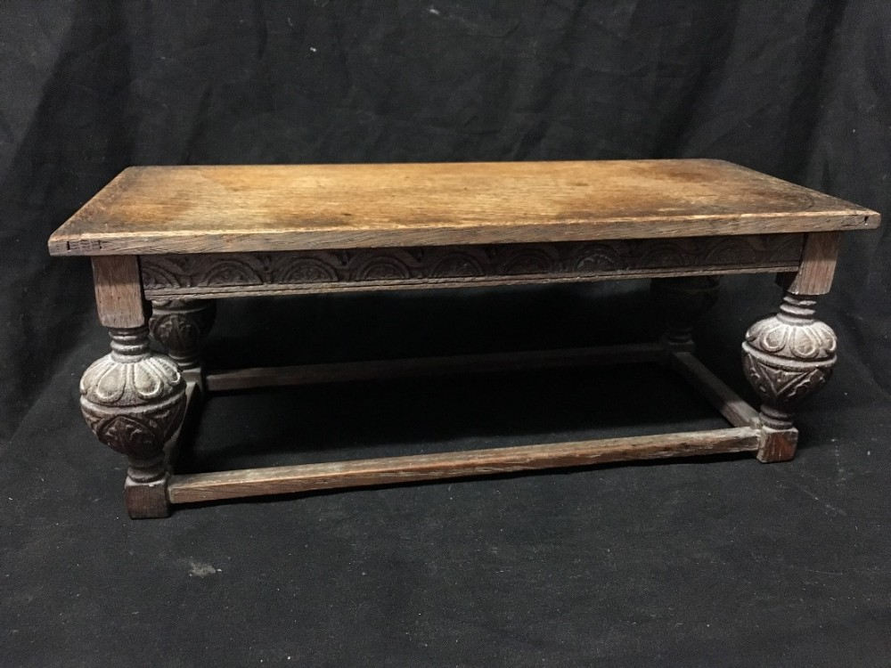 miniature apprentice made refrectory table in oak