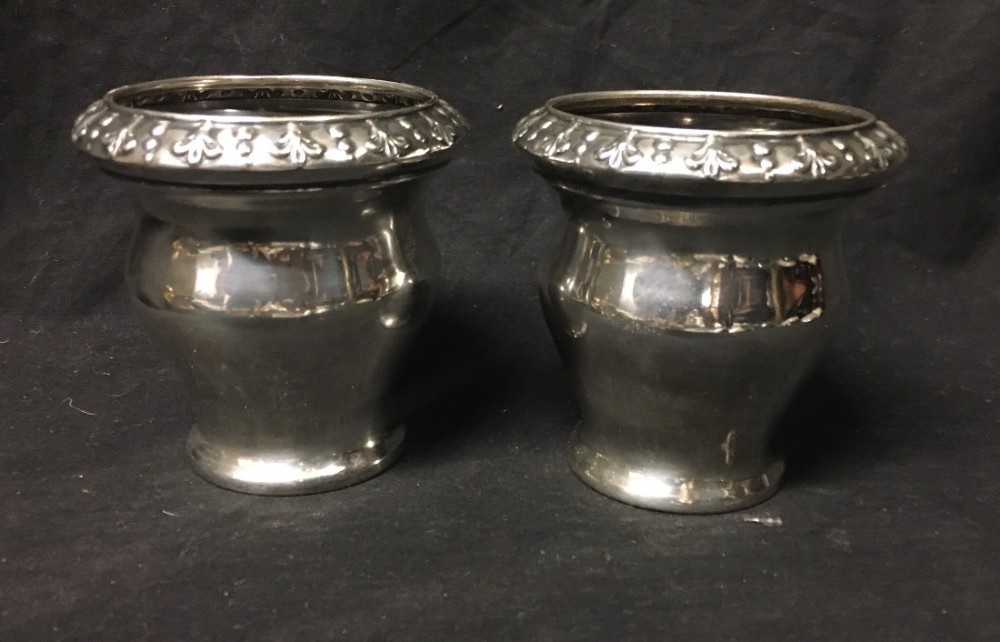 pair of hm silver beakers by barnard bros