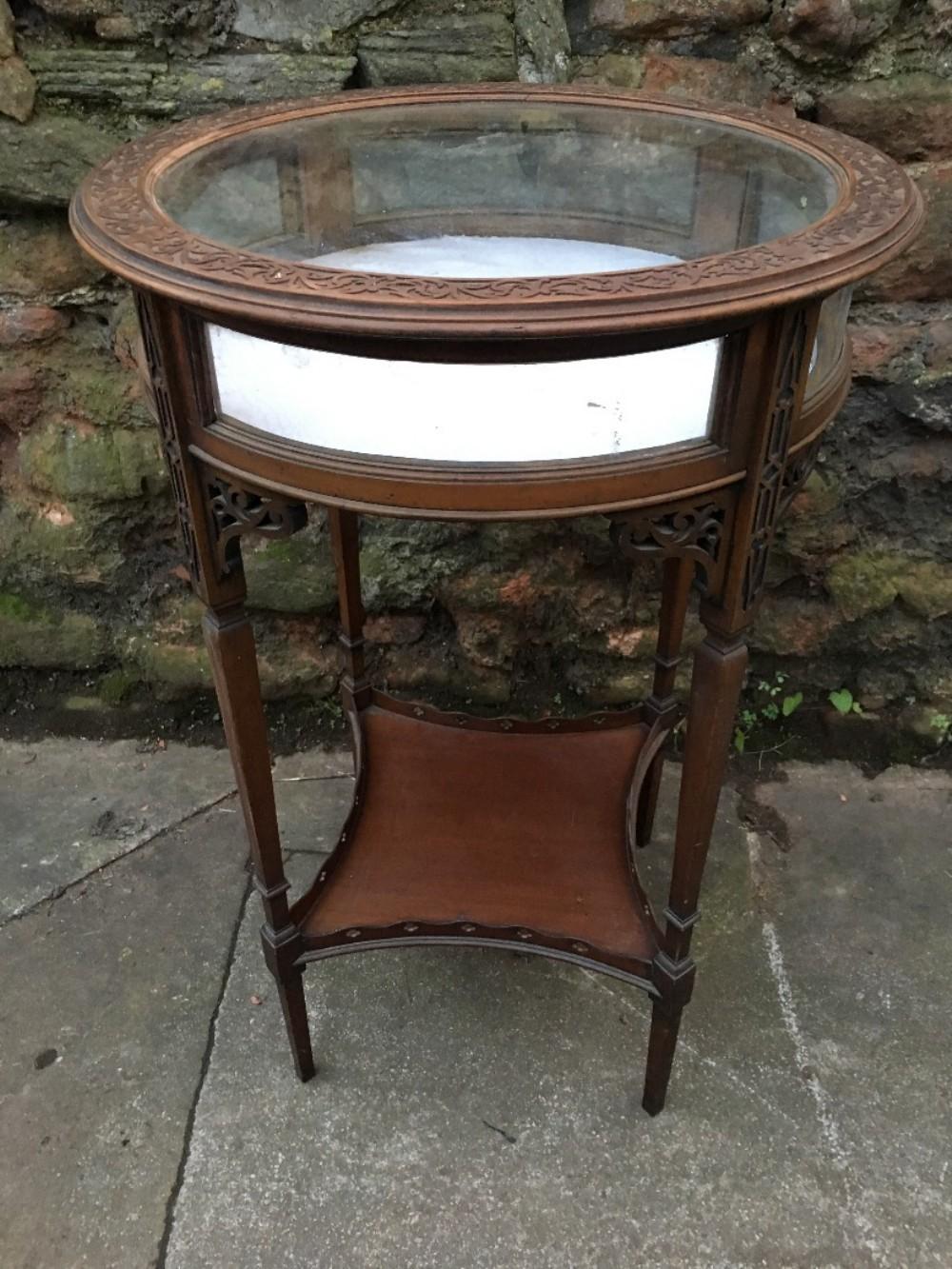 edwardian chippendale style bijouterie table