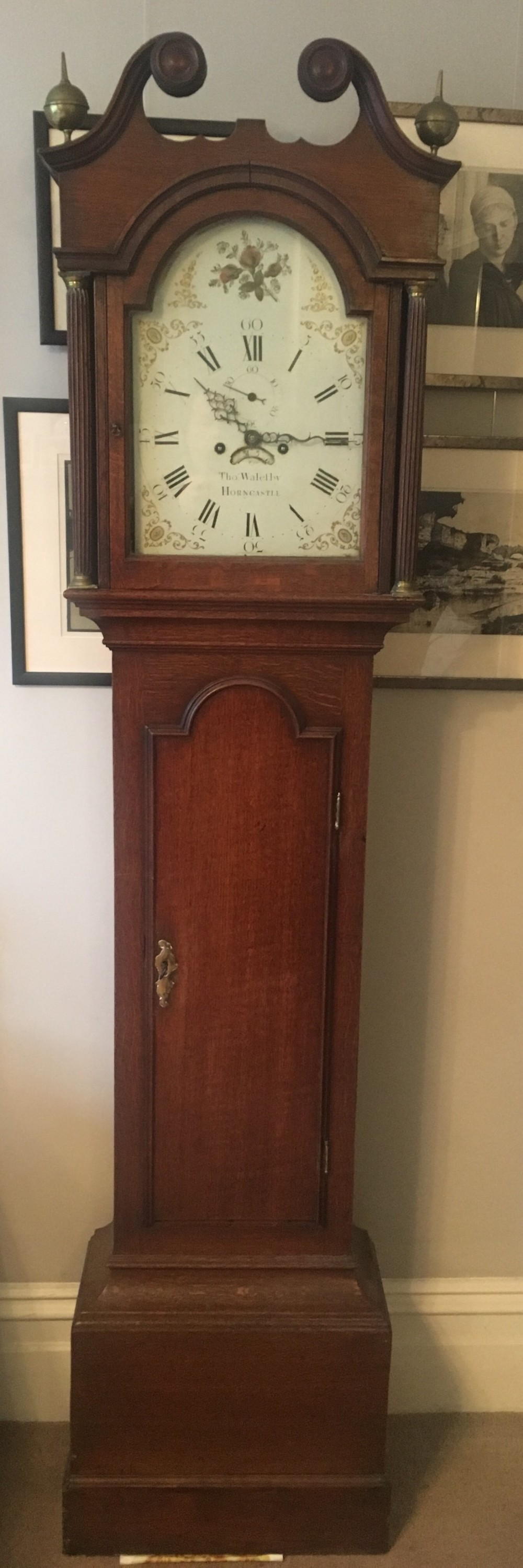 c18th longcase clock by thomas walesby of horncastle