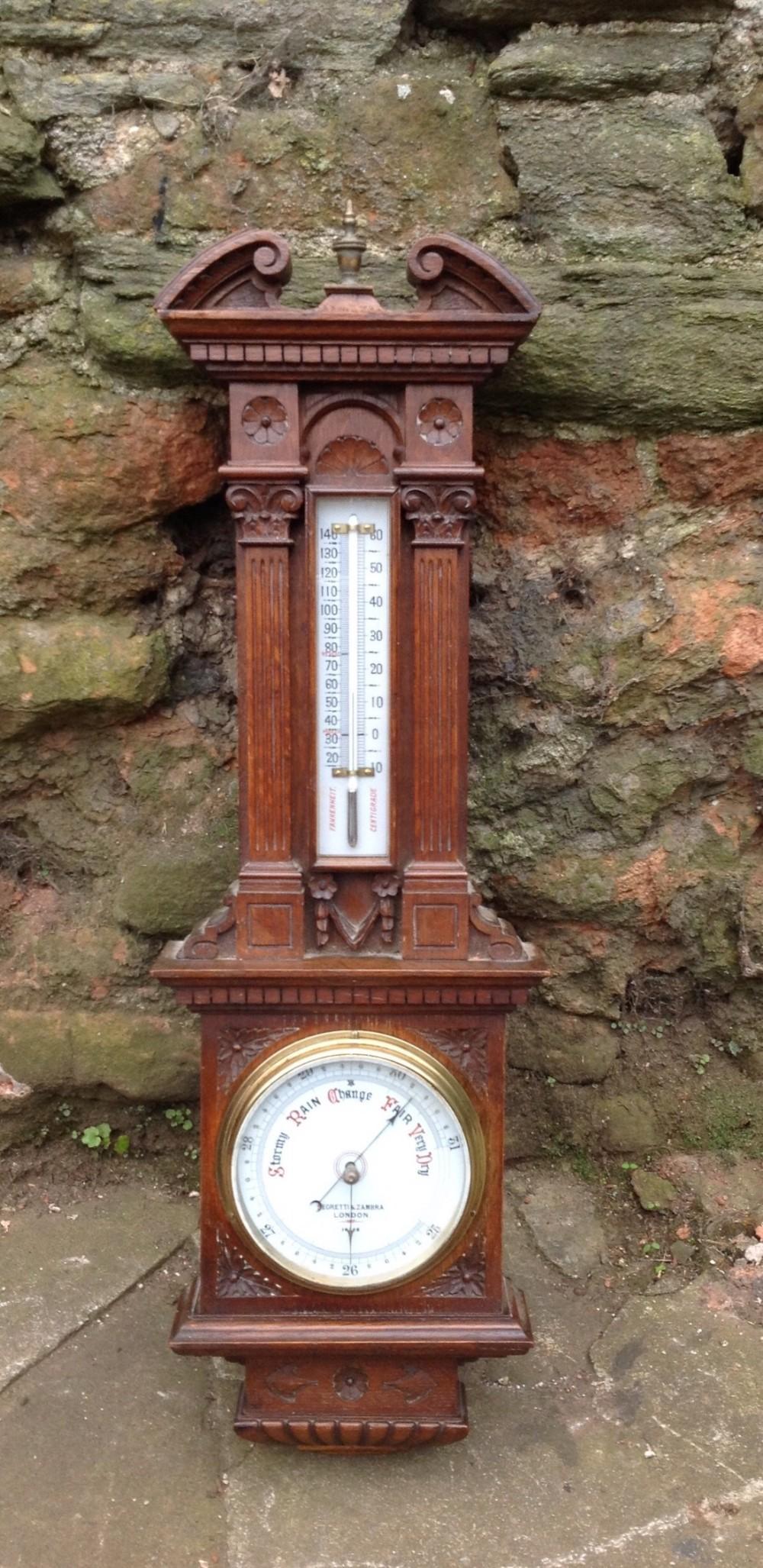 c19th negretti and zambra aneroid barometer