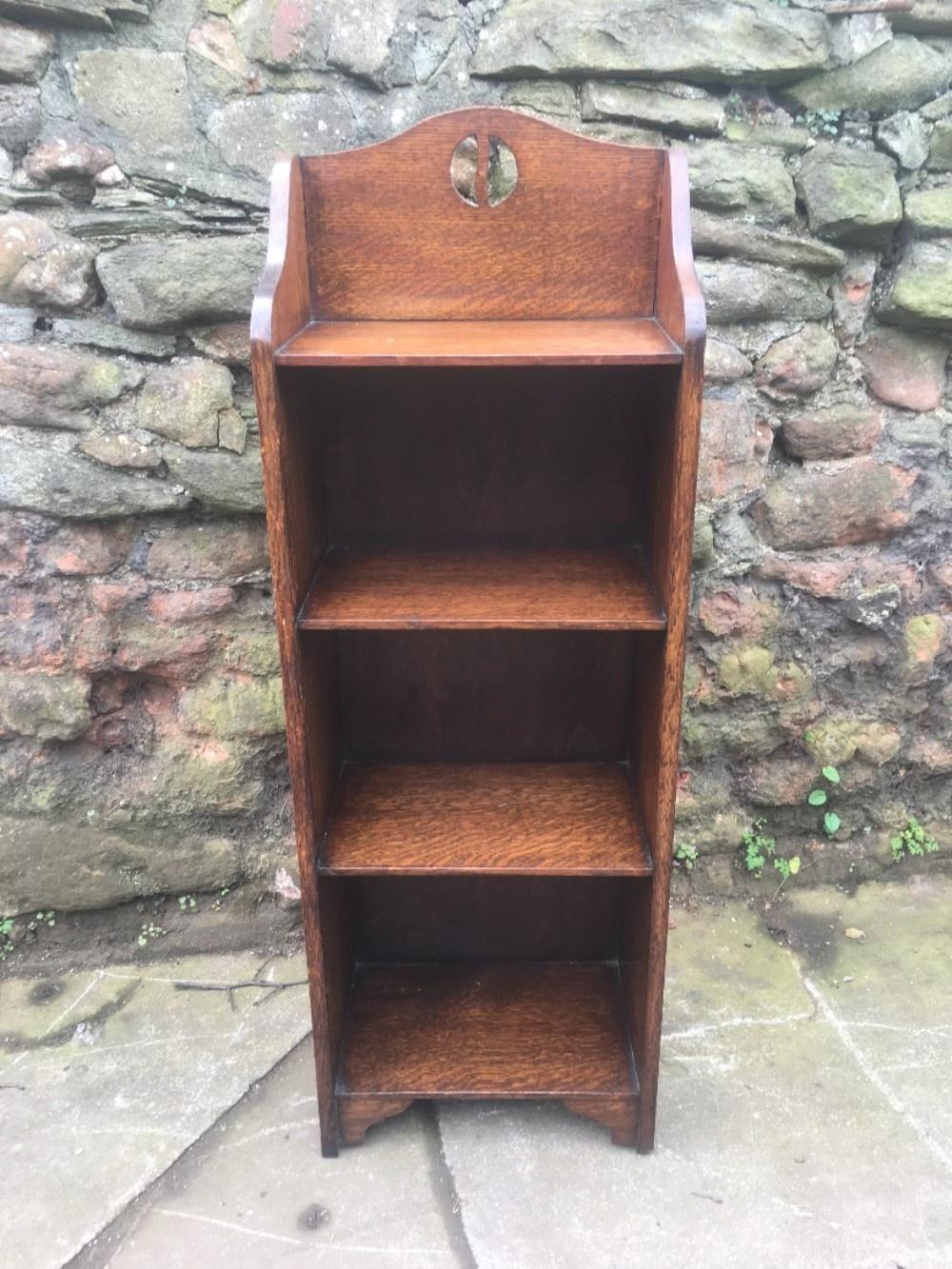 small narrow oak bookcase