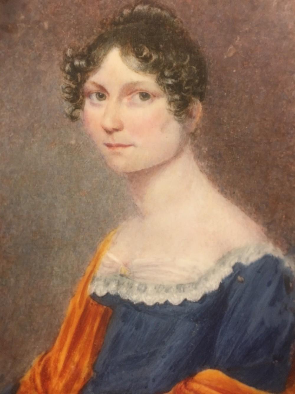 miniature portrait of woman by j jackson c1815
