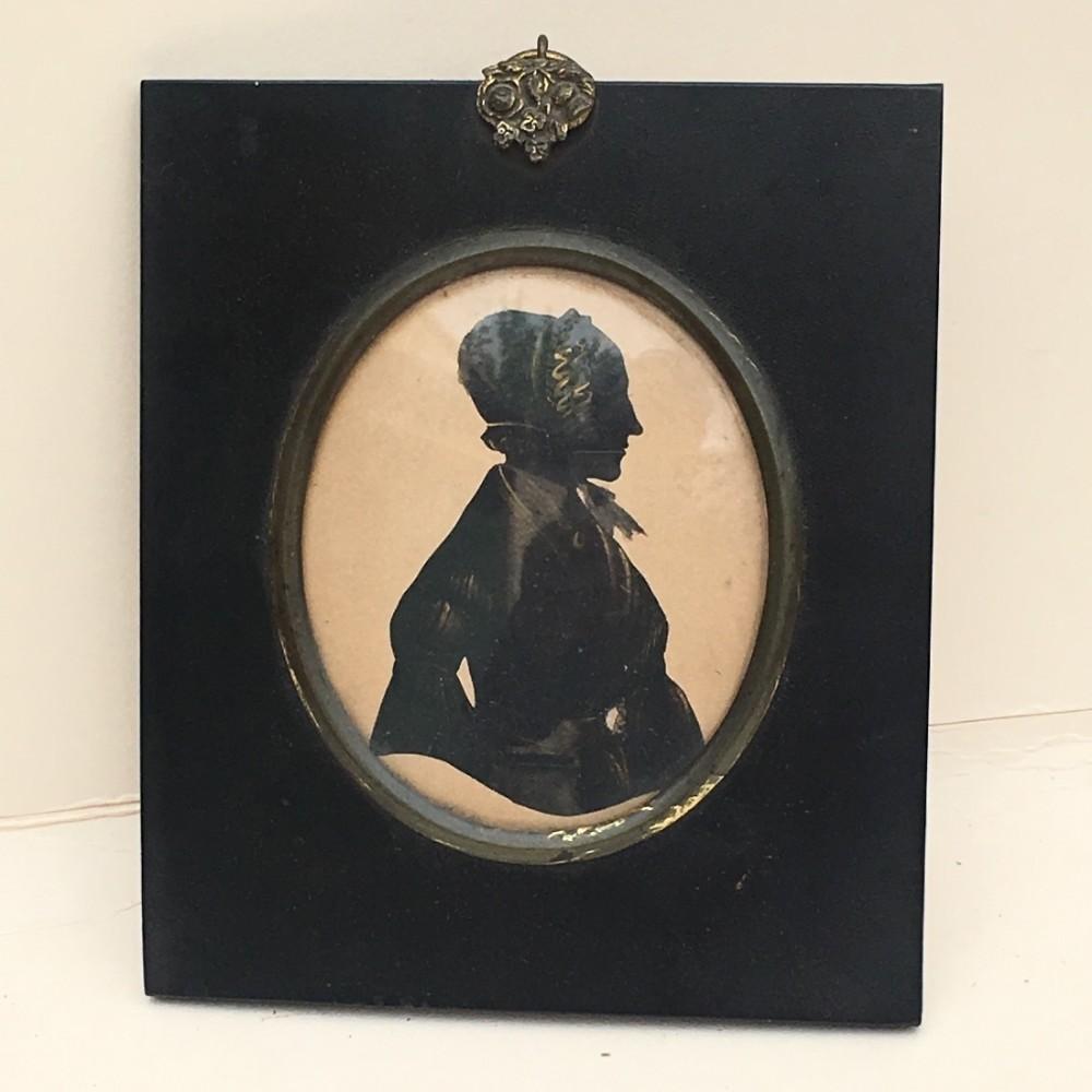 c19th portrait miniature silhouette