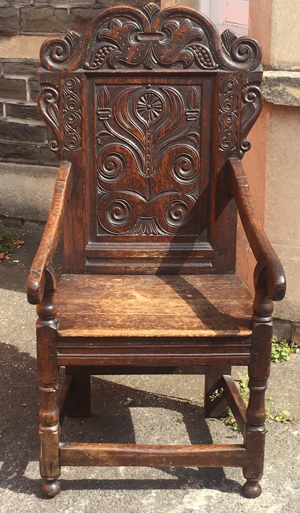 oak wainscot chair
