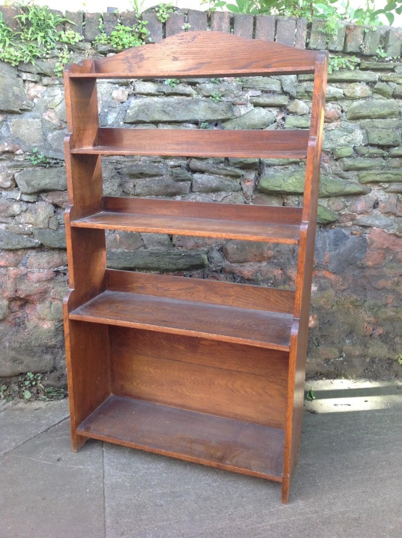 late c19th waterfall oak bookcase